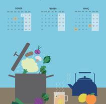Calendario de frutas estacionales.. Un proyecto de Diseño, Ilustración y Diseño gráfico de Tània García Jiménez - 10-08-2015