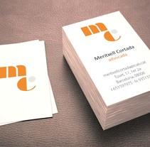 Meritxell Cortada diseño de logo y tarjetas . Un proyecto de Br, ing e Identidad y Diseño gráfico de Patricia Ros - Jueves, 13 de noviembre de 2014 00:00:00 +0100
