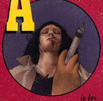 A is for Adrenaline. A Design, Illustration, and Graphic Design project by Cristina Sánchez - 24-08-2015