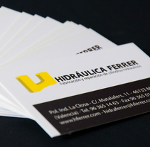 Hidráulica Ferrer Identidad Corporativa. A Br, ing, Identit, and Graphic Design project by Gema Sahuquillo         - 25.04.2012