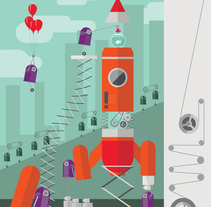 Proyecto Cohete. A Illustration project by Leonor Sanahuja - Sep 02 2015 12:00 AM