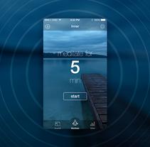 Inner. Aplicación para meditar. Un proyecto de UI / UX, Dirección de arte y Diseño interactivo de Jimena Catalina Gayo - 31-12-2014
