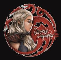 Daenerys Targaryen, del dibujo a lápiz a la ilustración digital.. Um projeto de Ilustração de Alicia Tapia         - 15.09.2015