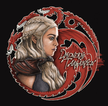 Daenerys Targaryen, del dibujo a lápiz a la ilustración digital.. A Illustration project by Alicia Tapia - 15-09-2015