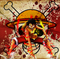 Fotomontaje One Piece. A Graphic Design project by Lucho Palacios - 18-09-2015