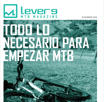 Lever9 MTB MAGAZINE Nº 00 - Proyecto final. A Editorial Design project by Javier Gilo Ruiz         - 02.03.2014