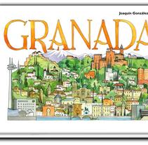 Libro de acuarelas de Granada. Un proyecto de Ilustración de JOAQUIN GONZALEZ DORAO - 22-09-2015