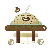 REVISTA GENTLEMAN: Tendencias en gastronomía. Un proyecto de Ilustración, Diseño de personajes y Diseño editorial de Del Hambre  - 27-09-2015