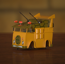 Turtle Van. A 3D, Animation, and Sculpture project by Joaquín Alme         - 28.09.2015