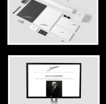 JULIO CASARES. A Br, ing, Identit, Graphic Design, Web Design, and Web Development project by María Sierra - 25-07-2014