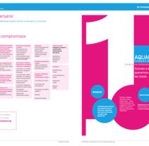 Informe Anual Fundación Aquae. Un proyecto de Diseño editorial de César Martín Ibáñez  - 30-09-2015