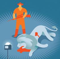 ¡DE UNO EN UNO POR FAVOR! ( En memoria de Cecil ). Un proyecto de Ilustración de SKIZOGRAFICS         - 11.10.2015