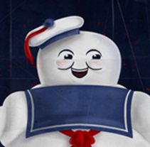 Stay Puft! Marshmallow Man. A Illustration, Character Design, and Comic project by Lorena Loguén         - 11.04.2014
