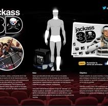 "Acción de marketing para ""Jackass 3D"". A Br, ing&Identit project by Begoña  Baeza Bonmati - 12-10-2013"