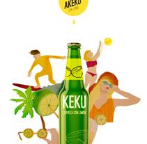 Keku Cerveza con Limón. Um projeto de Design, Ilustração e Animação de María F. Quintero Novoa         - 13.10.2015