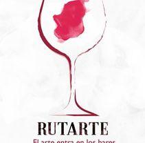 Carteles promocionales del evento Rutarte. El arte entra en los bares.. Un proyecto de Diseño gráfico de Fernando Medina Medina         - 17.10.2015