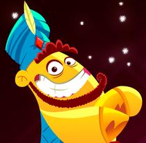 Aladino y el enredo de los genios. Un proyecto de Animación y Diseño de personajes de Juan Carlos Cruz         - 18.10.2015