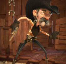 Cowboy. A 3D, Animation, Character Design, and Sculpture project by Luis Arizaga - 10.19.2015