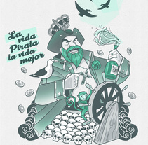 Spanish pirate. Un proyecto de Ilustración de Javi Gil         - 19.10.2015