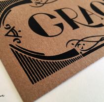 Gracias. Lettering serigrafiado. . A Design, Graphic Design, Screen-printing, and Writing project by Noelia Tramullas Fernandez         - 21.10.2015