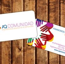 AQ COMUNIDAD: BRANDING PARA DESPACHO DE ARQUITECTURA. Um projeto de Br, ing e Identidade e Design gráfico de Juan Pablo Calderón Preciado - 28-06-2015