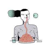 Ilustradores a la mesa. A Illustration project by Ana Galvañ - 25-10-2015
