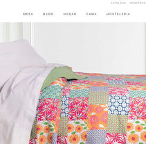 Atenas Home Textile. Um projeto de Web design e Desenvolvimento Web de Gema R. Yanguas Almazán         - 03.08.2015