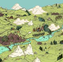 Ilustración Infantil. A Illustration, L, and scape Architecture project by Ness Morais         - 04.11.2015