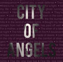 Book Cover| City of Angels . Um projeto de Design editorial de Karla Angulo Sagastume         - 17.02.2014