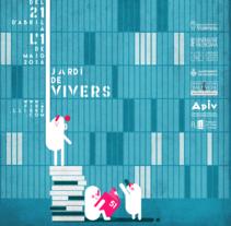 """PROYECTO PARA EL """"CARTELL DE LA 51º FIRA LLIBRE DE VALÈNCIA"""". A Graphic Design project by memosesmas         - 09.11.2015"""