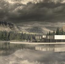 Equipamiento en el Lago. A Illustration, 3D, and Architecture project by Minerva García Romay         - 13.11.2015