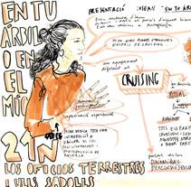 """Live drawing """"En tu árbol o en el mío"""". Um projeto de Ilustração e Eventos de Tonina Matamalas         - 22.11.2015"""