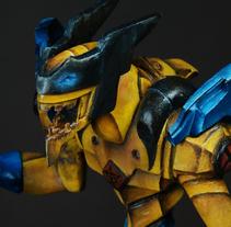 Berserk Wolve – Escultura. Um projeto de 3D, Design de jogos, Pintura, Escultura e Design de brinquedos de felixdasilva         - 01.12.2015