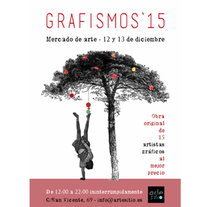 Cartel Grafismos`15, mercado de arte. Un proyecto de Br, ing e Identidad, Diseño gráfico y Collage de Rocío González         - 04.12.2015