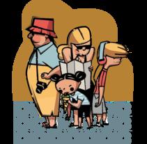 BCN tourists. Um projeto de Ilustração de Eduard Altarriba         - 04.12.2015