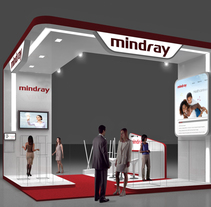 Diseño Stand Mindray (Esicm). A 3D, Architecture, Br, ing, Identit&Interior Architecture project by Quique Cestrilli - 03-01-2015