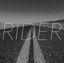 RIDER. Um projeto de UI / UX, Br, ing e Identidade e Design interativo de Santiago Gambera         - 07.12.2015