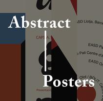 5 Posters abstractos. Um projeto de Design, Direção de arte, Artes plásticas e Design gráfico de Panna_Studio         - 10.12.2015