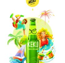 Proyecto final Keku (cerveza con limón). Un proyecto de Ilustración de María José Salva Rez         - 12.12.2015