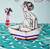Life in a boat is much better. Um projeto de Ilustração, Artes plásticas, Design gráfico e Pintura de Ramiro Cavil         - 18.12.2015
