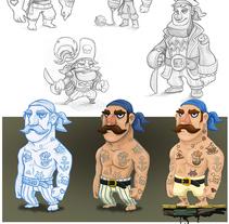 Diseño de personajes: Juego de piratas.. A Illustration, Animation, and Game Design project by Jorge M. Hernández Alférez         - 04.11.2014