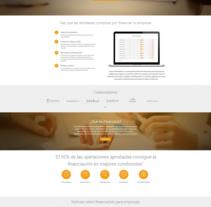 Financiación para empresas Financlick. Un proyecto de Diseño Web de La Teva Web Diseño Web  - Jueves, 07 de enero de 2016 00:00:00 +0100