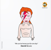 David Bowie | A.K.A | Ziggy Stardust. A Design, Illustration, Character Design, and Graphic Design project by Fernando Rodríguez López de Haro         - 13.01.2016