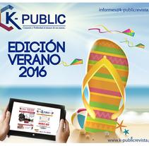 k-publicrevista Verano 2016. Un proyecto de Diseño de kpublicrevista         - 17.01.2016