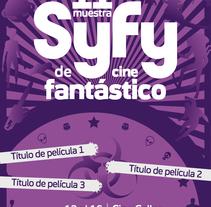 Cartel 11º Muestra de cine fantático SyFy. Um projeto de Design gráfico de José Luis Cid         - 08.01.2016