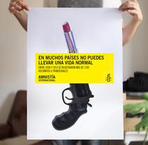 Campaña captación socixs entre el colectivo LGTBI para Amnistía Internacional . Un proyecto de Diseño, Publicidad, Dirección de arte, Br, ing e Identidad y Diseño gráfico de José Antonio Arreza Pérez - 21-01-2016