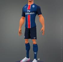 Zlatan Ibrahimovic. Um projeto de 3D e Design de personagens de gesiOH         - 27.01.2016