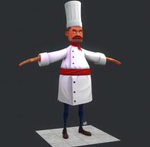 Chef Low Poly. Um projeto de 3D e Design de personagens de gesiOH         - 27.01.2016