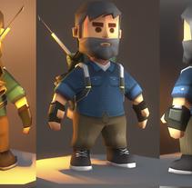 Game character Low Poly. Um projeto de 3D, Animação, Design de personagens e Design de jogos de gesiOH         - 27.01.2016