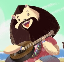 Afiche Reunión ukelele-peru. A Illustration, and Character Design project by Renzo Sanchez - 29-01-2016